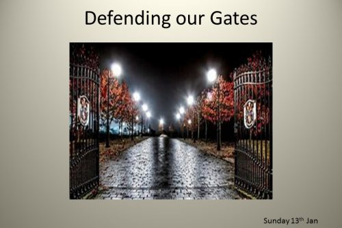 Defending our City Gates